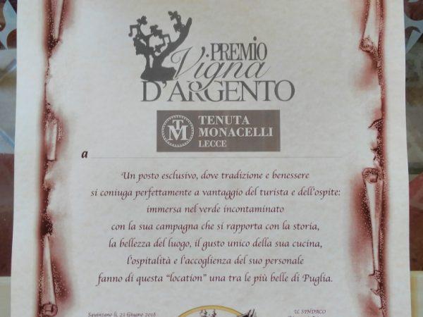 Premio Vigna d'Argento per Tenuta Monacelli di Annalisa Fedele a tenuta monacelli - Immagine 1
